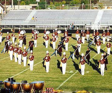 Color guard - A high school color Guard.