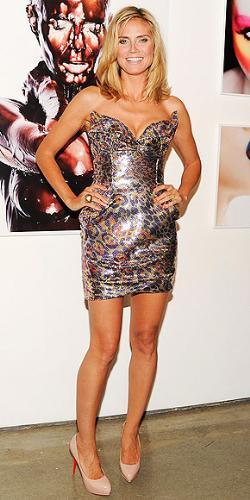 Heidi Klum - She looks great in this mini dress! She most work her butt off to stay in this shape!