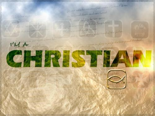 Christian - A poster with the word 'Christian'.