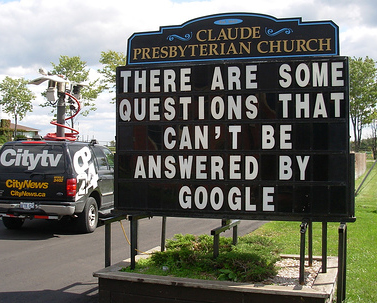 Questions - There are some questions not even Google can answer.