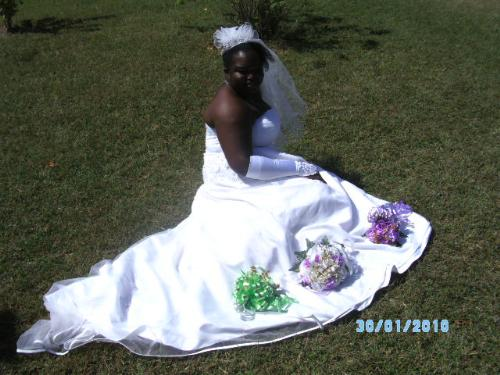 Me in my wedding dress  - This is me getting married January 30,2010