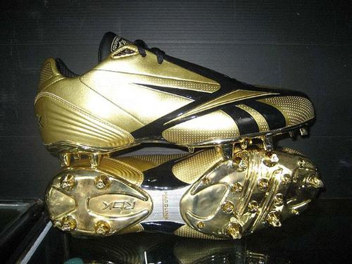 Silver football shoes - Only Chad Ochocinco would were these football shoes!