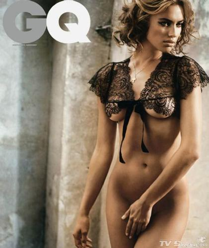 Irina Shayka - SI Swimsuit model when she posed for 'GQ'.