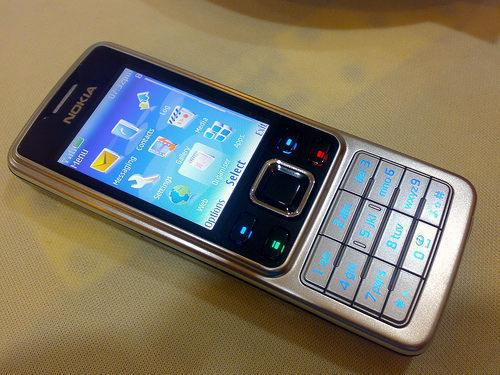 nokia 6300 - a picture of an original 6300 showing its default menu screen.