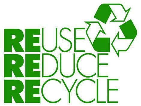 recycle - a symbol with three arrows that represent reuse, reduce, and recycle