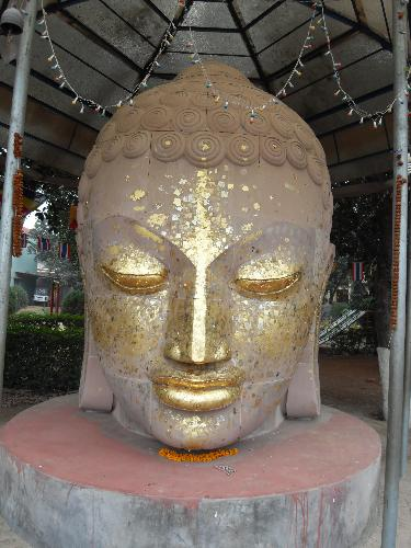 buddha - this is the statue of Buddha in the city of sarnath (India) made by the artists from thailand.