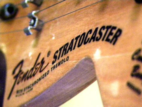 Headstock - A very vintage guitar headstock, from the guitarist of Monochrome. Cool tone than anyone else.