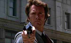 Harry Callahan - Clint Eastwood as Harry Callahan from the 'Dirty Harry' movie.