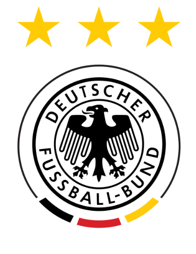 DFB Germany National Football Team - Logo of Germany National Football Team, since World Cup 1990. The three stars represent World Cup titles in 1954, 1974 and 1990