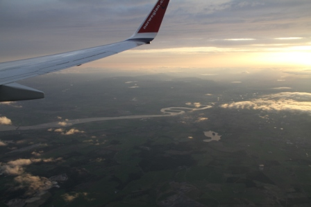 View from a plane - Plane seen from a plane