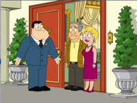 Stan meets his real in=laws - In one episode Stan tracks down Francine's real parents. Nicholas and Cassandra Dawson. Stan finds out they gave her up becuase they could not take her on a plane trip and could care less about her!