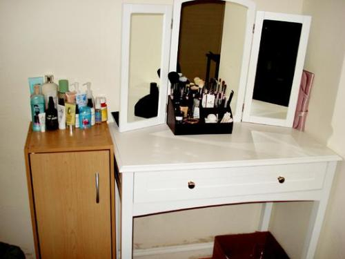 Vanity - A picture of my vanity table.. it completes my room!