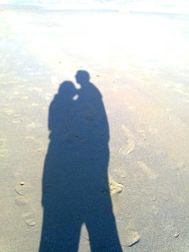 love - It is taken on the beach.
