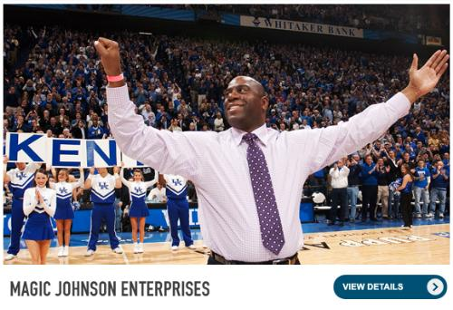 magic Johnson - Earvin 'Magic' Johnson. He is a great business man who started from the ground up!