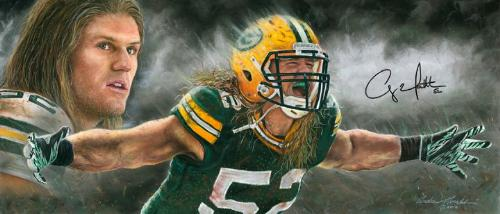 Love it! - A painting of Packers linebacker Clay Matthews!