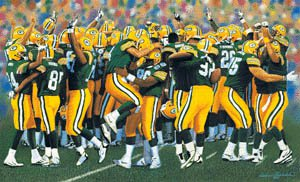 The Packers - The Packers celebrating a win! I so love this team!