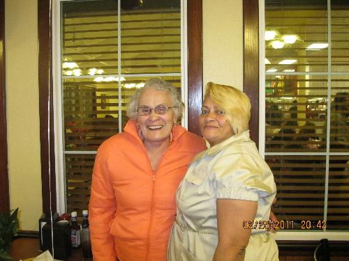 brenda and joyce - me and my mother at jamila's b-day party feb 2011