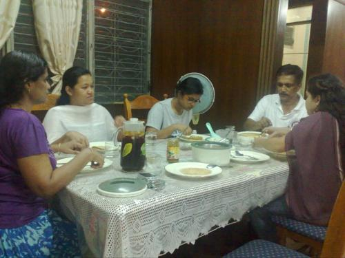 dinner  - dinner with them