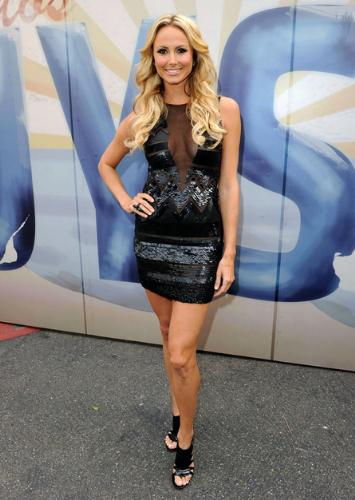 black dress - I like the dress but have no idea who Stacy Keibler is,who is wearing this dress!