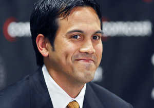 Erik Spoelstra  - Erik is now the NBA's youngest head coach entered the 2008-2009 season, 69 days younger than current New Jersey Nets coach Lawrence Frink. Despite the age, Riley and the rest of the Heat players respects and believes in him to steer the team to the right direction.