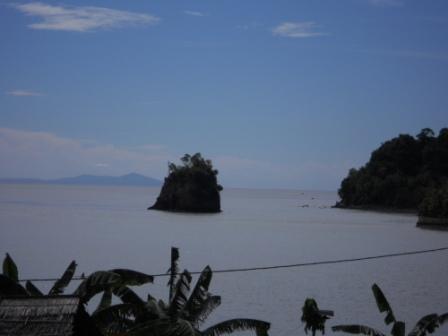 ambon beach - stunning scenery. coast of ambon.