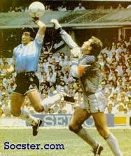 that historical moment - that moment in 1986 against england 'hand of god'