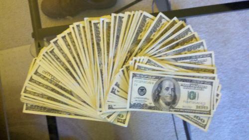 stack of money - stack of money on a table  hundred dollar bills, moola, make more money, cash