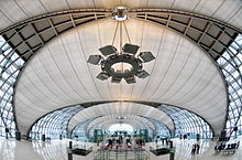Inside the Suvarnabhumi Airport - It is an inner location of the airport.