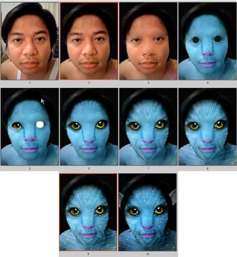 avatar evolution - An avatar conversion.