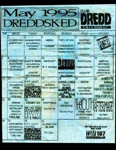 Classic Club Dredd - Classic Club Dredd gig schedule, circa 1995