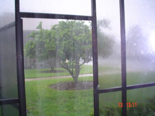 Hurricane Charlie - I took this picture before hiding, when it began to rain. This was a hurricane in August 2004 and passed very near Disneyworld.