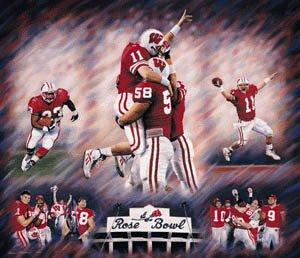 On to the Rose Bowl! - The Wisconsin Badgers won the Big 10 and went to the 2011 Rose Bowl! Unforunlety the Badgers lost to TCU!