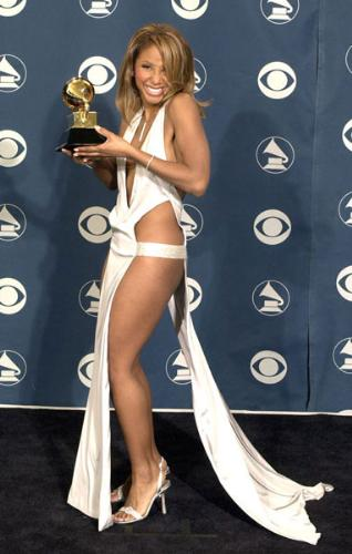 Toni Braxton - When I look at this dress I think 'is she wearing any kind of panties?' Very revealing to say the least!