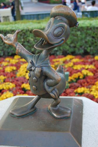 Donald - Just like to take pics of some the things around Disneyland. I love these little staues near Walt and MIckey