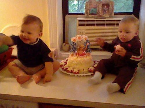 me nephew carson an my daughter trinity - my nephew an my daughter on her first bday