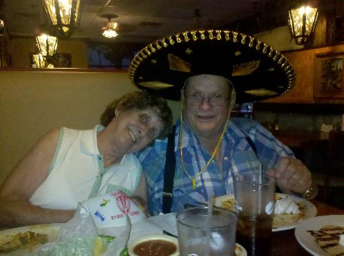 My parents - Dad's 79th birthday dinner