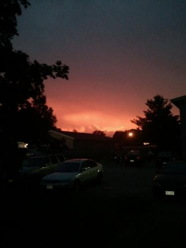 Sunset - A sunset with a thunderstorm brewing in the distance!