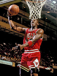 Michael Jordan - Michael Jordan going for a dunk. I think he is the best player ever to play in the NBA!