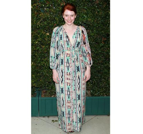 Bryce Dallas Howard - Bryce is pregant and this was not the best choice for a dress to wear! She could of done better!