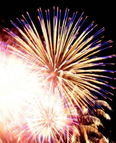 Firework - Light show in the sky.
