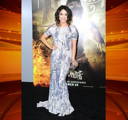 Tablecloth dress - Vanessa Hudgens dress look like it was made out of a table cloth! Oh brother!