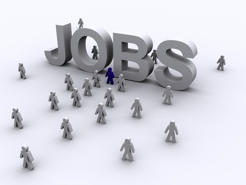 Find a good job - an image of the word job with job seekers for this category