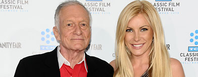Hef and Crystal HArris - The wedding is off! Miss HArris decided to cancel the wedding! She was probaly just marring the old fart for his money which she would not be getting any of it anyway!