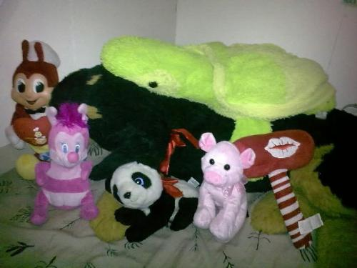 stuffed toys - these are just some of my toys here in our apartment. I still have more at home. =)