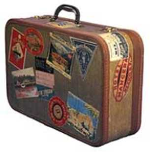 a suitcase for visiting australia - an image of a suitcase for visiting Australia for this category