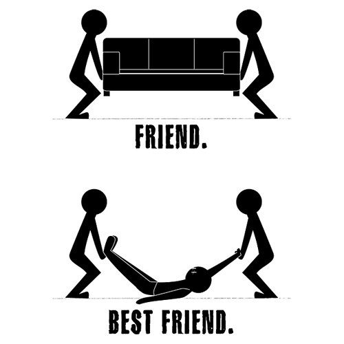 Friend vs Best Friend - There's friend and there's best friend.