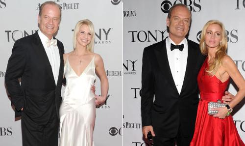 The old and the new - Here is a photo of Kelsey grammer with old wife Camille,last year and a currant photo of him with the new wife Kayte Walsh!