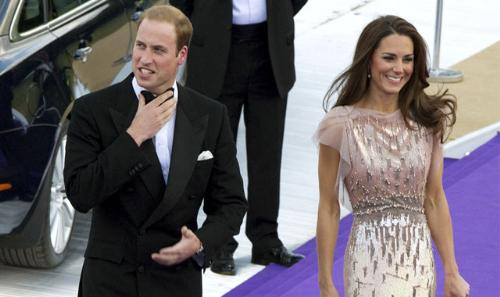 The duke and duchess - Prince William and his wife Cathrine,the duchess of Cambridge.