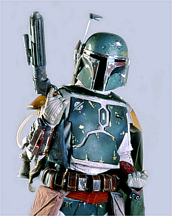Boba Fett - One of the charecters in the Star War movies.