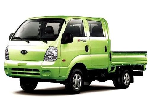 Kia K2900 lorry - A double cab lorry that is good for carrying both passengers and goods.